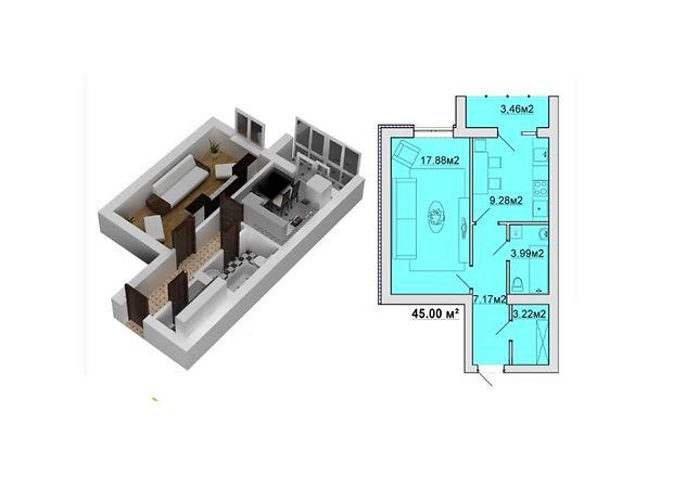 Продажа квартиры, 1 ком., Винница, р‑н.Зарванцы, Одесская улица