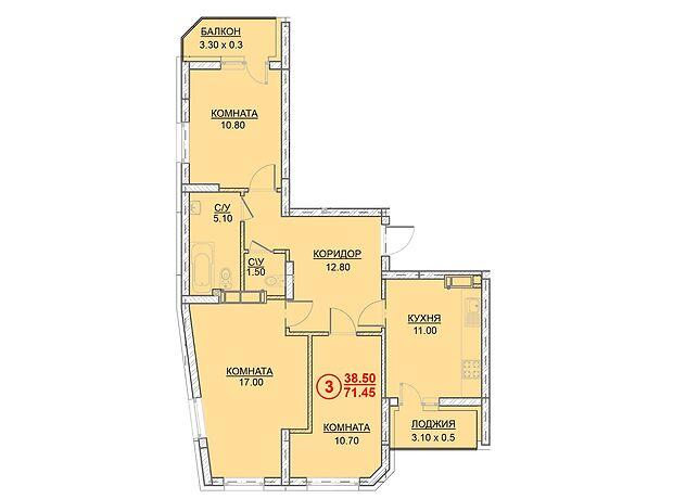 Продажа трехкомнатной квартиры в Вышгороде, на ул. Ватутина район Вышгород фото 1