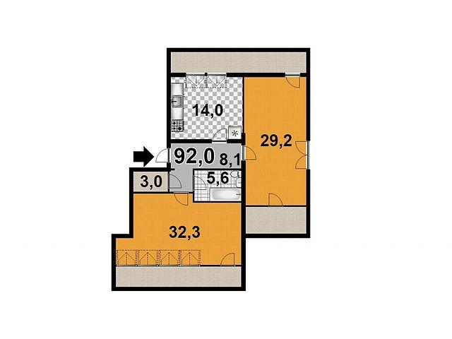 Продажа квартиры, 1 ком., Запорожье, р‑н.Днепровский (Ленинский), Днепровские пороги 15
