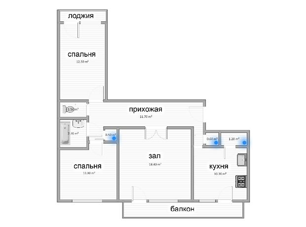 Продажа квартиры, 3 ком., Запорожье, р‑н.Шевченковский, Военстрой, дом 92