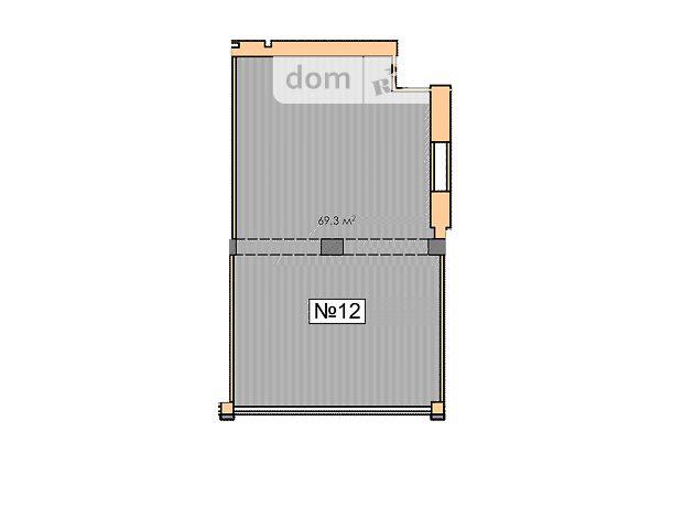 Офисное помещение на 69.3 кв.м. в нежилом помещении в жилом доме в Черкассах фото 1