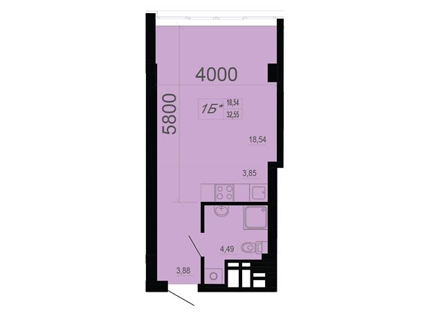 Офисное помещение на 33.36 кв.м. в нежилом помещении в жилом доме в Днепре фото 1