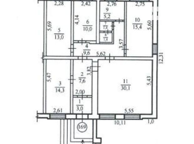 Офісне приміщення на 111 кв.м. в нежиловому приміщені в житловому будинку в Дніпропетровську фото 1