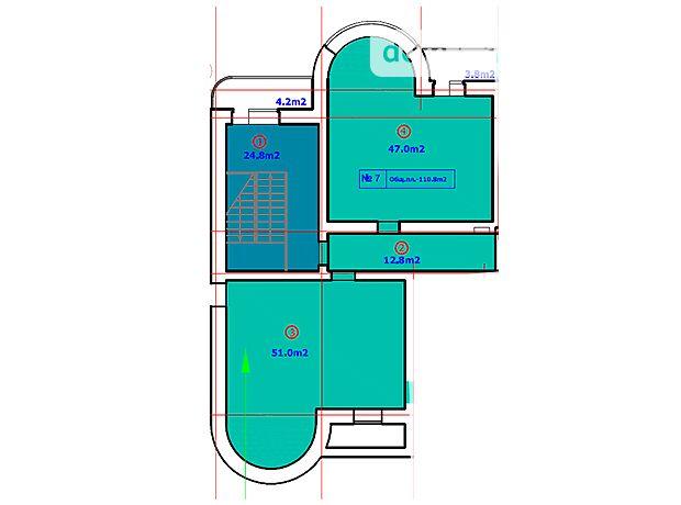 Офисное помещение на 113.4 кв.м. в нежилом помещении в жилом доме в Сумах фото 1