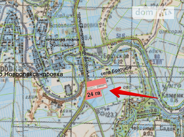 Продажа участка под жилую застройку, Днепропетровск, р‑н.Новоалександровка