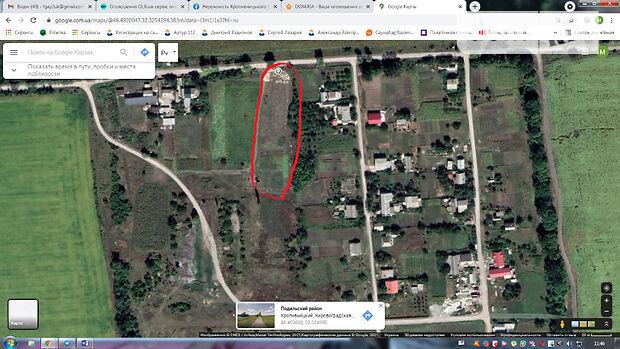 Земля под жилую застройку в Кропивницком, район Кущевка, площадь 24 сотки фото 1