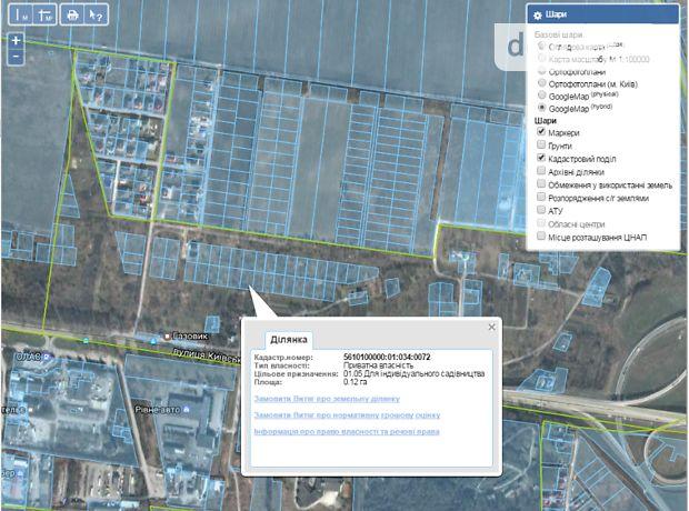 Продаж ділянки під житлову забудову, Рівне, р‑н.Автовокзал, Газовик