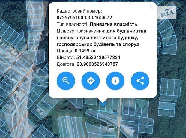 Земля під житлову забудову в Шацьку, район Шацьк, площа 15 соток фото 1