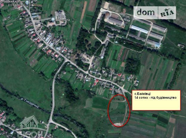 Земля под жилую застройку в селе Байковцы, площадь 14 соток фото 1