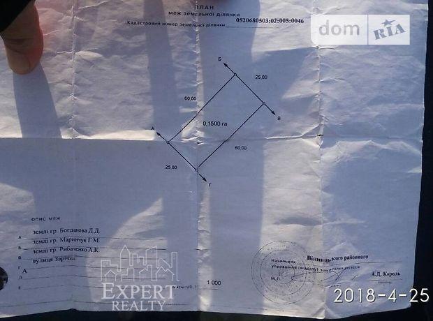 Продажа участка под жилую застройку, Винница, c.Бохоники