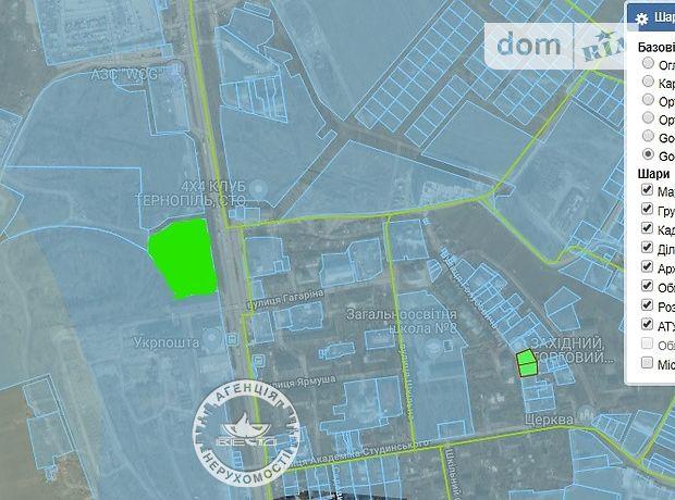 Земля коммерческого назначения в Тернополе, район Сахарный завод, площадь 89 соток фото 1