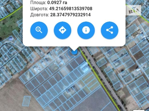 Продажа земли коммерческого назначение, Винница, р‑н.Агрономичное, пров Малиновий 1