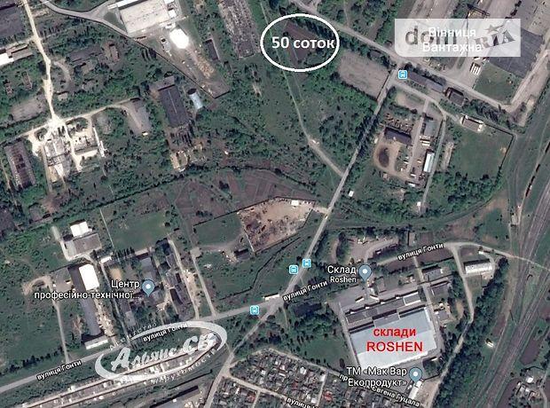 Продаж землі комерційного призначення, Вінниця, р‑н.Замостя, Гонти вулиця