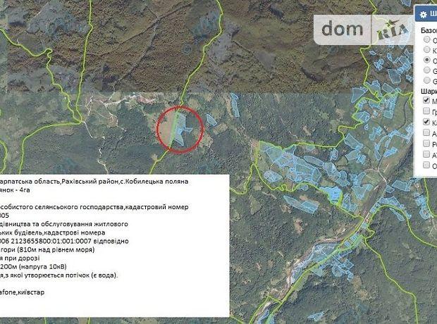 Земля рекреационного назначения в селе Кобылецкая Поляна, площадь 4 Га фото 1