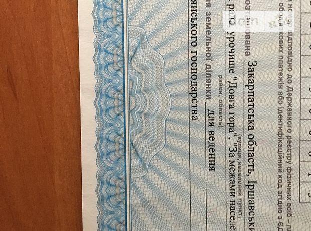 Продажа земли сельскохозяйственного назначения, Закарпатская, Иршавa, Урочище Довга гора