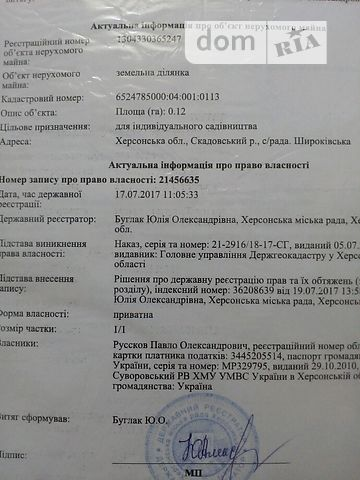 Продаж землі сільськогосподарського призначення, Херсонська, Скадовськ, c.Широке
