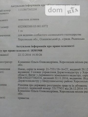 Продаж землі сільськогосподарського призначення, Херсонська, Цюрупинськ, c.Раденськ