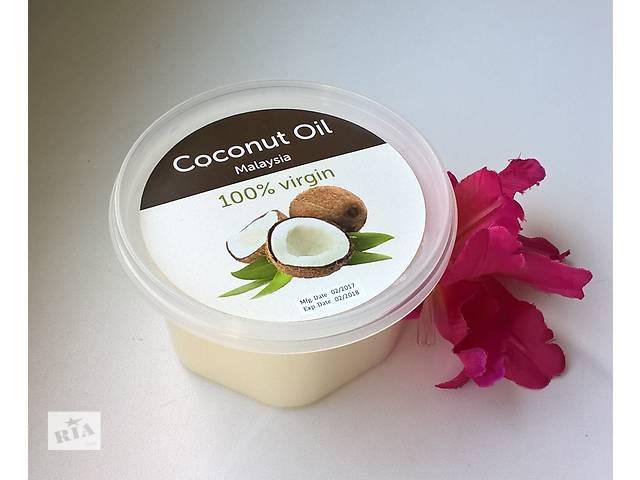 купить бу 100 % натур.нераф. кокосовое масло MALAYSIA 200 ml в Киеве