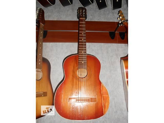 бу ( 1243 ) Черниговская шестиструнная гитара. Супер цена! и ее Видео Обзор в Черкассах