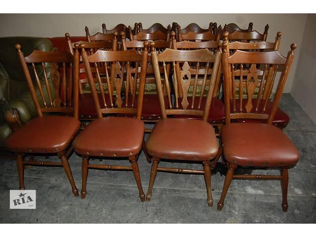 купить бу №1288.Комплект 4 стула дубовых бу из Голландии в Киеве