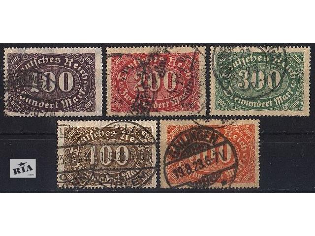 купить бу 1922 - Германия - Стандарт _Овалы Mi.219-23 в Ровно
