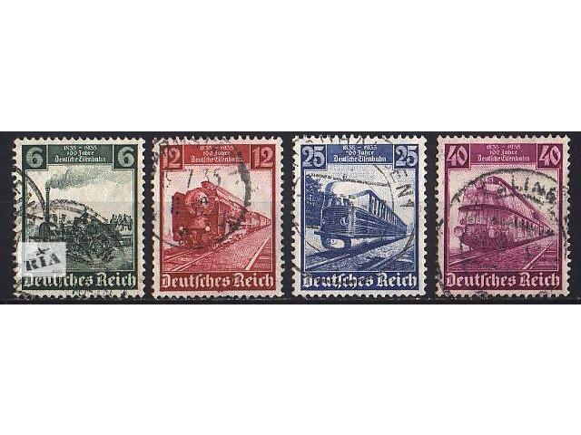 бу 1935 - Рейх - 100 летие жел.дорогам Mi.580-83 в Ровно