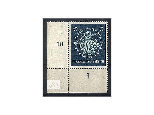 купить бу 1944 - Рейх - Университет в Кенигсберге_ поля Mi.896 ** в Ровно