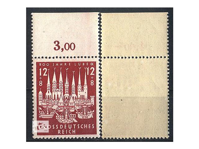 продам 1943 - Рейх - 800 лет Любека Mi.862 ** бу в Ровно