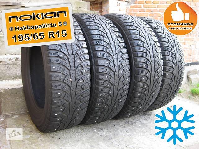 продам 195/65 R15 Nokian Hakkapeliitta-5 6мм 4шт (шипованная) бу в Львове