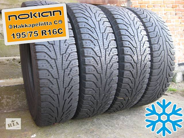 продам 195/75 R16C Nokian Hakkapeliitta-C (зима) 5мм 4шт (шипованная) бу в Львове
