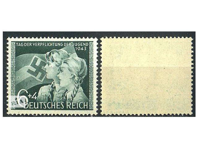 бу 1943 - Рейх - День молодежи Mi.843 ** в Ровно