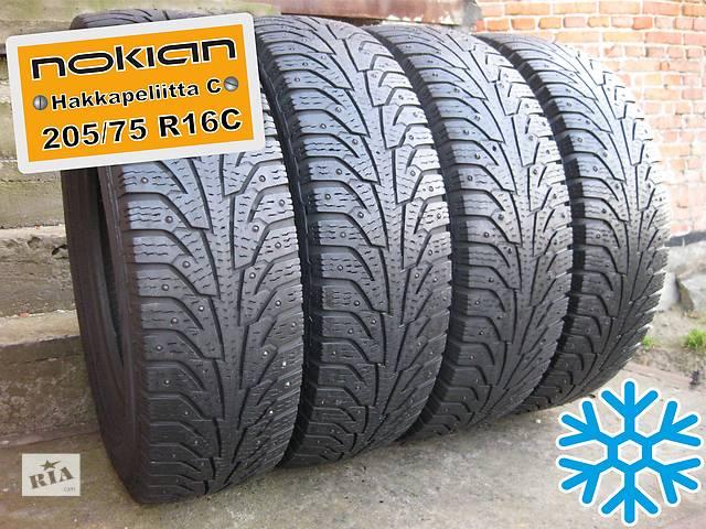 купить бу 205/75 R16C Nokian Hakkapeliitta-C (зима) 5-6мм 4шт (шипованная) в Львове