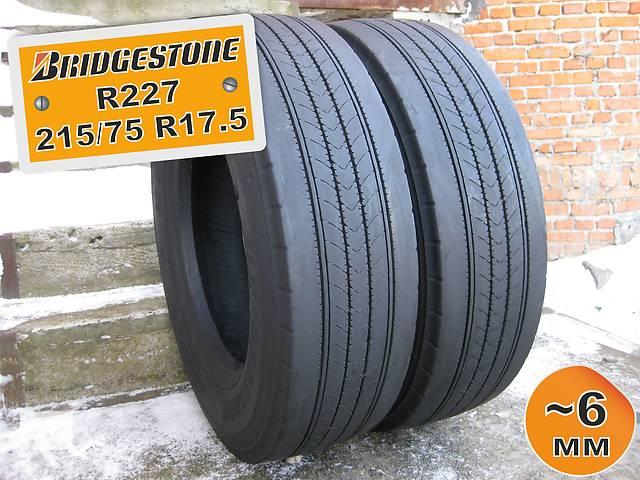 215/75 R17.5 Bridgestone R227 (рулевая ось) 6мм 2шт- объявление о продаже  в Львове