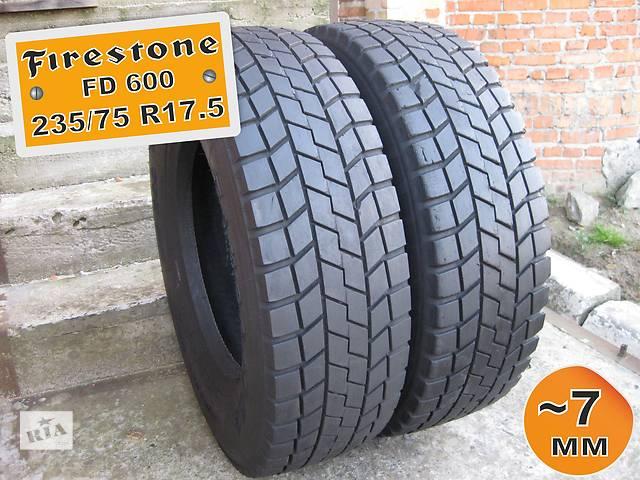 продам 235/75 R17.5 Firestone FD600 (ведущая ось) 7мм 2шт бу в Львове