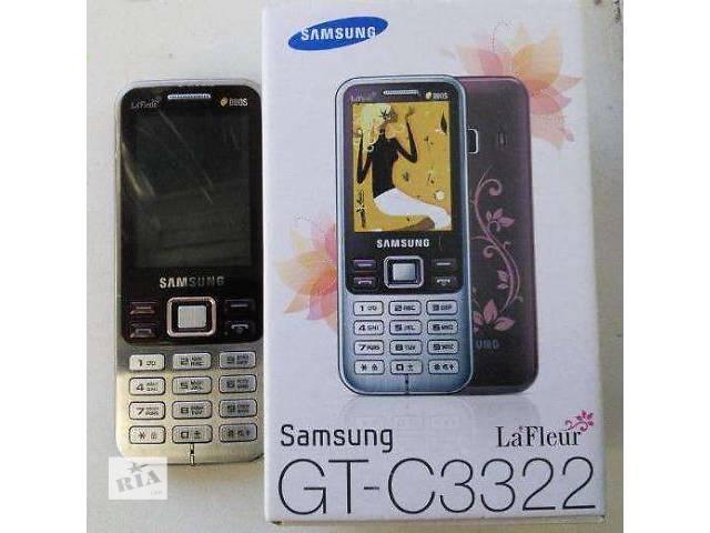 продам -30% Samsung C3322i Duos Scarlet Red La Fleur, 2 симкарты +2Гб флешка  бу в Гнивани