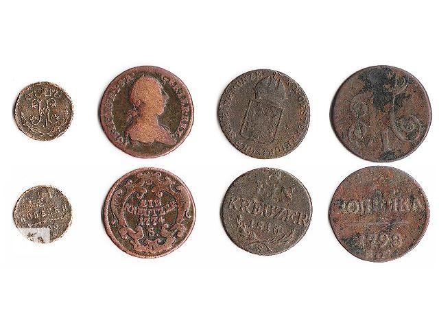 купить бу 4 колекционные старинные монеты  в Тернополе