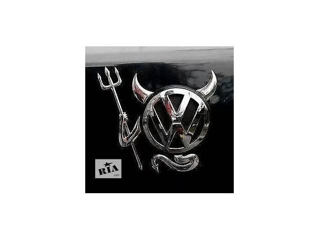 бу 3D хром дьявол наклейка на автомобиль в Киеве