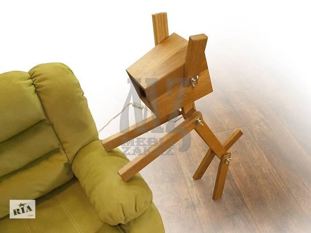 купить бу 3K-Zeus mebel Дерев'яна лампа Comfy Home Dogi в Василькові (Київській обл.)