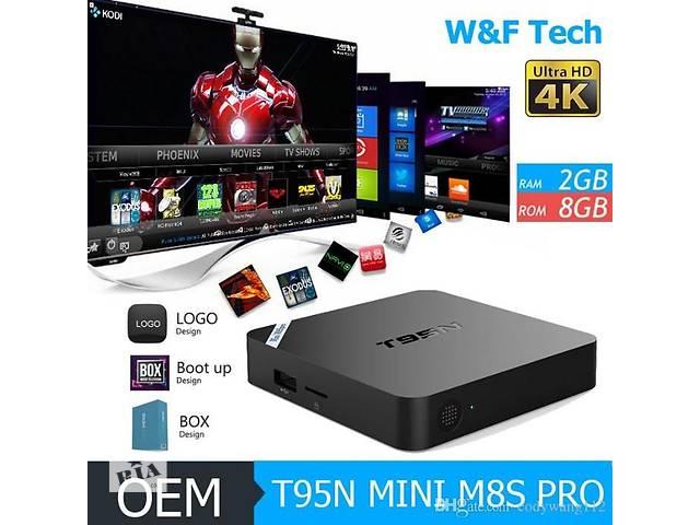 T95N S905X 1/8gb TV BOX тв бокс IPTV Android. пристав+900тел- объявление о продаже  в Одессе