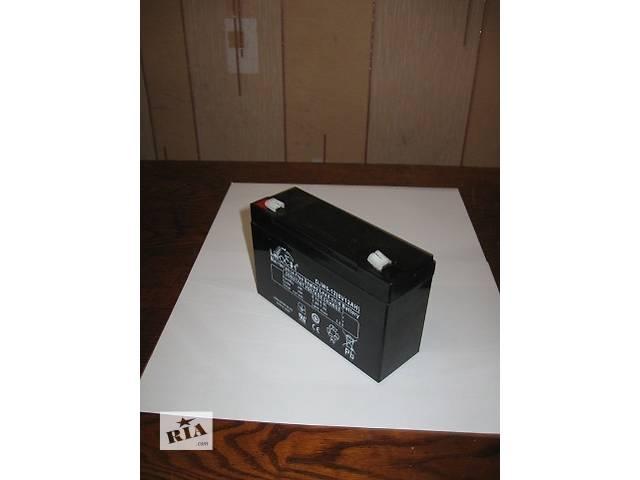 Аккумулятор Leoch DJW 6/12В 7Ач до детского электромобиля, эхолота, ибп, сигнализации.- объявление о продаже  в Киеве