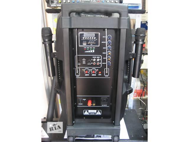 аккумуляторная акустическая колонка с 2 микрофонами и МР-3 плеером- объявление о продаже  в Одессе