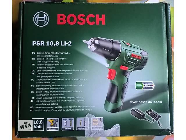 купить бу Аккумуляторная дрель-шуруповерт Bosch PSR 10.8 LI-2 в Киеве