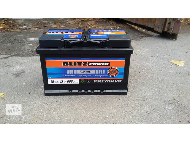 продам акумулятор Blitz Power 75Ah\12V\800A бу в Киеве