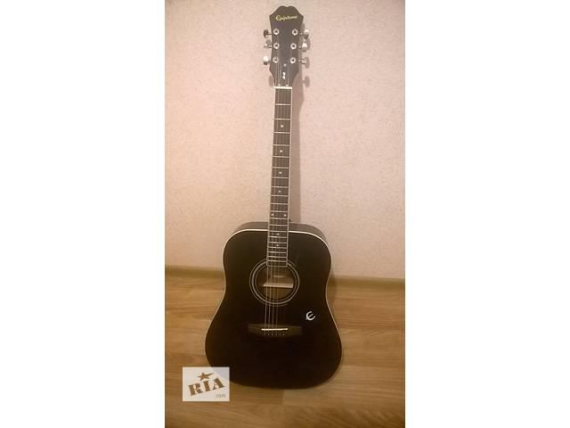 купить бу Акустическая гитара Epiphone DR-100 + Чехол + Новые струны в Николаеве