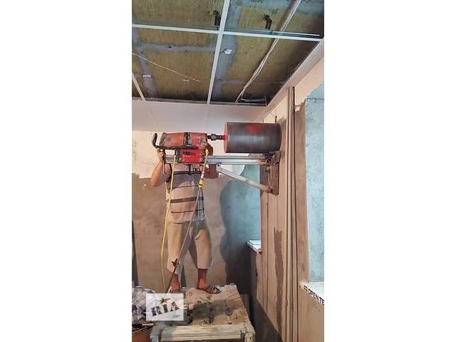 продам Алмазное сверление отверстий демонтаж резка стен бетона железобетона вырезка проемов арок ниш любые демонтажные работы бу в Одессе