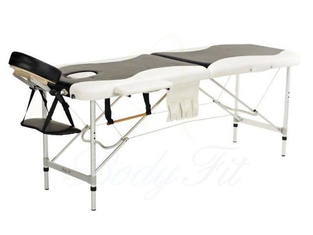 продам Алюминиевый 2-х сегментный стол для массажа белый-черный бу  в Украине