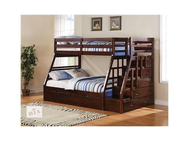 купить бу Ангелина- двухъярусная трехместная кровать из массива, от фабрики мебели в Василькове