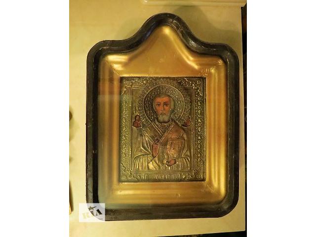 Антикварная икона Святого Николая Чудотворца- объявление о продаже  в Киеве