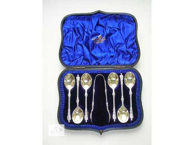 бу Апостольские ложки с ангелами 1891 год. Серебро 925 п. (sterling silver). Англия в Тернополе