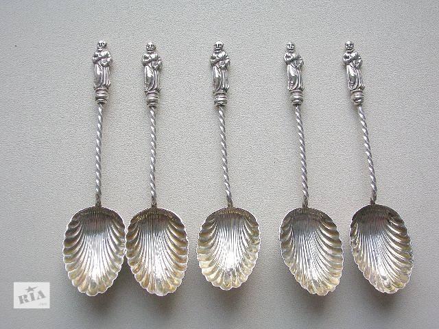 бу Апостольские ложки 1898 год. Серебро 925 пробы (sterling silver). Англия в Тернополе